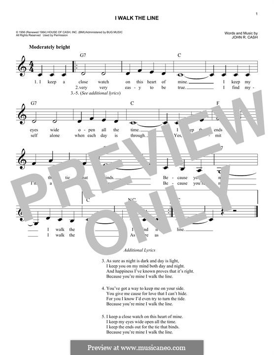 I Walk the Line: Мелодия by Johnny Cash