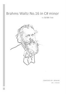 Вальс No.16: Arrangement for tuba by Иоганнес Брамс