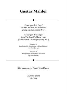 Симфония No.3 ре минор: Movement V. Version D for alto solo by Густав Малер