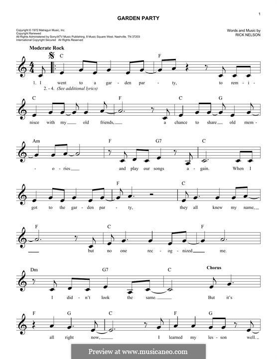 Garden Party: Мелодия by Rick Nelson