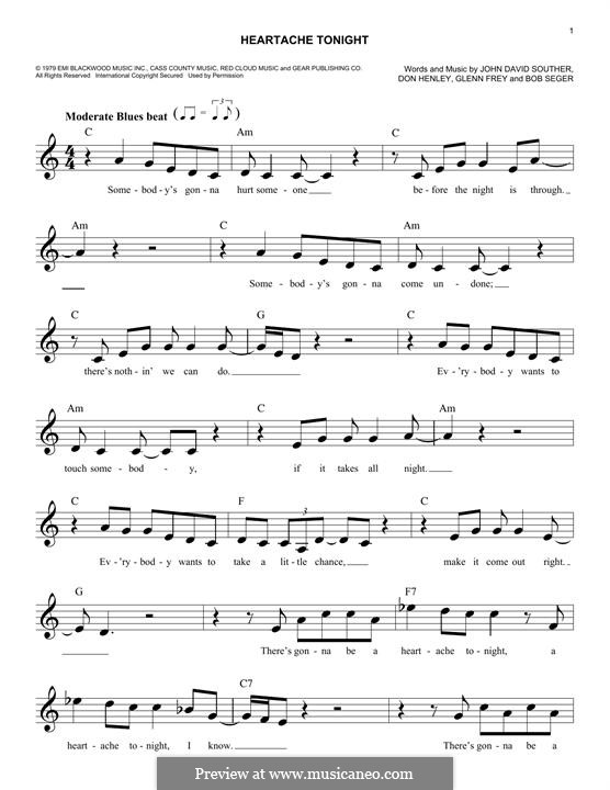 Heartache Tonight (The Eagles): Мелодия by Bob Seger, Don Henley, Glen Frey, John David Souther