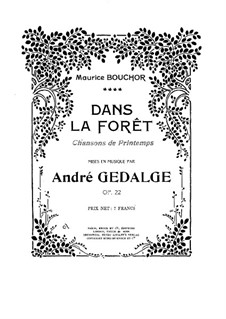 Dans la Foret, Op.22: Dans la Foret by Андре Жедальж