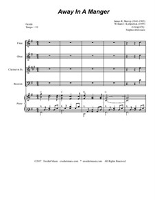 Away in a Manger: For woodwind quartet and piano by Джеймс Р. Мюррей