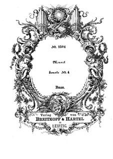 Церковная соната для двух скрипок, органа и бассо континуо No.4 ре мажор, K.144: Партия бассо континуо by Вольфганг Амадей Моцарт