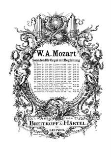 Церковная соната для оркестра No.16 до мажор, K.329 (317a): Партитура by Вольфганг Амадей Моцарт