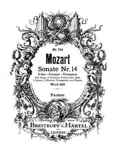 Церковная соната для оркестра No.16 до мажор, K.329 (317a): Партия литавр by Вольфганг Амадей Моцарт