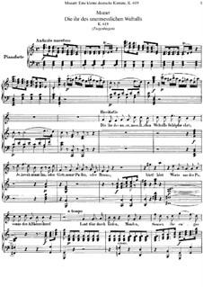 Die ihr des unermesslichen Weltalls, K.619: Die ihr des unermesslichen Weltalls by Вольфганг Амадей Моцарт