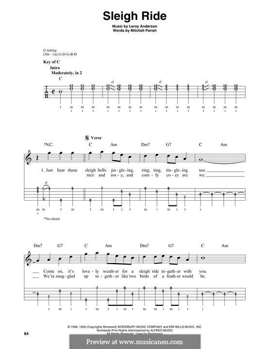 Sleigh Ride: For banjo by Лерой Андерсон