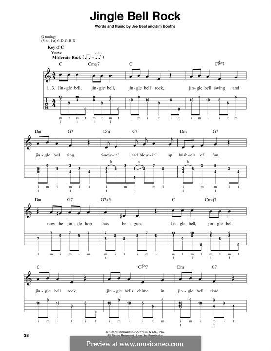 Jingle Bell Rock: For banjo by Jim Boothe, Joe Beal