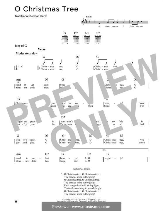 O Christmas Tree, (Printable Scores): Для гитары by folklore