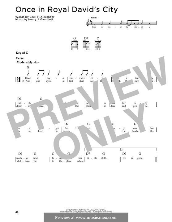 Once in Royal David's City: Для гитары by Henry John Gauntlett