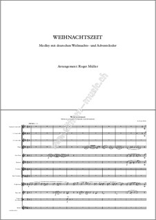 Christmas Time: For Brass Choir by Roger Müller, Unknown (works before 1850)