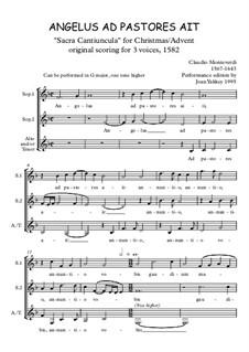 Angelus ad Pastores ait: Angelus ad Pastores ait by Клаудио Монтеверди