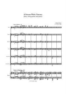 A Strauss Waltz Fantasy (flute, string quintet and piano): A Strauss Waltz Fantasy (flute, string quintet and piano) by Иоганн Штраус (младший)