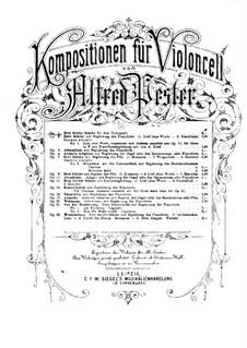 Три маленькие пьесы для трех виолончелей, Op.1: Партитура by Альфред Пестер