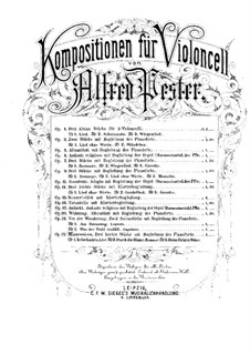 Von der Wanderung für Cello und Klavier, Op.21 No.2: Партитура by Альфред Пестер