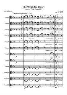 Две элегические мелодии, Op.34: No.1 Сердечная рана, для ансамбля альтов by Эдвард Григ