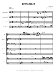 Shenandoah: For clarinet choir by folklore