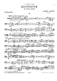 Фортепианный квинтет ми минор, Op.41: Партия виолончели by Габриэль Пьерне