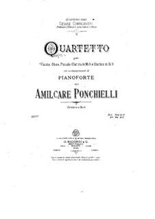 Квартет для духовых и фортепиано си-бемоль мажор: Квартет для духовых и фортепиано си-бемоль мажор by Амилькаре Понкьелли