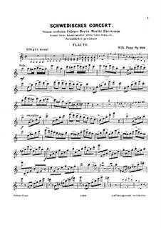 Шведский концерт для флейты и фортепиано, Op.266: Сольная партия by Вильгельм Попп