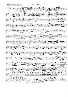 Фортепианное трио ми-бемоль мажор, Op.27: Партия скрипки by Генрих Прох