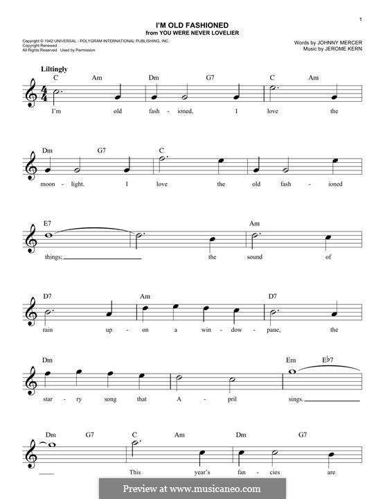 I'm Old Fashioned: Мелодия by Джером Керн