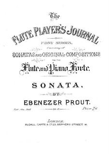 Соната для флейты и фортепиано ля мажор, Op.17: Партитура by Эбенизер Праут