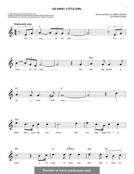 Go Away, Little Girl: Мелодия by Carole King, Gerry Goffin