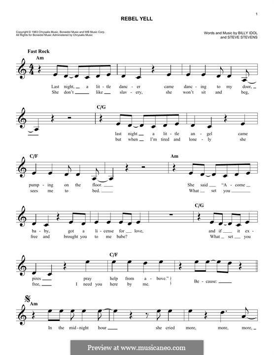 Rebel Yell: Мелодия by Steve Stevens