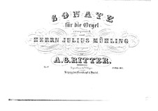 Соната для органа No.2 ми минор, Op.19: Соната для органа No.2 ми минор by Август Готтфрид Риттер