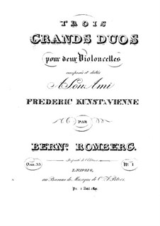 Три больших дуэта для двух виолончелей, Op.33: Дуэт No.1 – Партия второй виолончели by Бернхард Ромберг