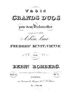 Три больших дуэта для двух виолончелей, Op.33: Дуэт No.2 – Партия первой виолончели by Бернхард Ромберг