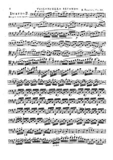 Три больших дуэта для двух виолончелей, Op.33: Дуэт No.2 – Партия второй виолончели by Бернхард Ромберг