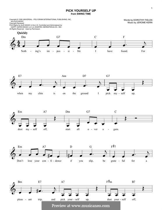 Pick Yourself Up: Мелодия by Джером Керн