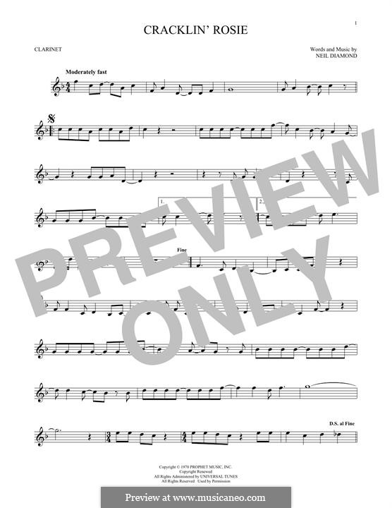 Cracklin' Rosie: Для кларнета by Neil Diamond