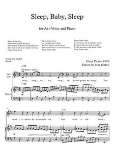Sleep, Baby, Sleep - Aria for Alto & piano: Sleep, Baby, Sleep - Aria for Alto & piano by Elena Pierini
