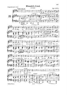 Романсы и баллады, Op.53: No.1 Blondels Lied, for voice and piano by Роберт Шуман