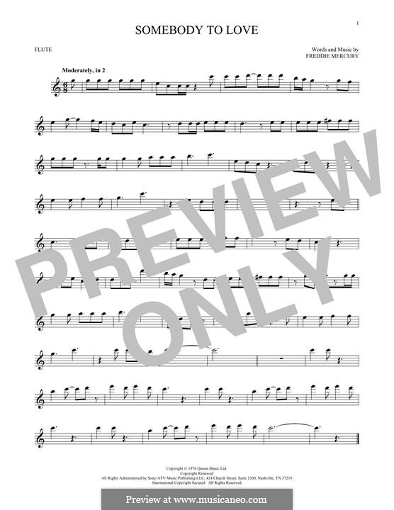 Somebody to Love (Queen): Для флейты by Freddie Mercury