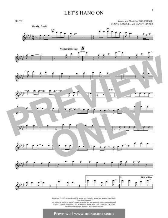 Let's Hang On: Для флейты by Bob Crewe, Denny Randell, Sandy Linzer