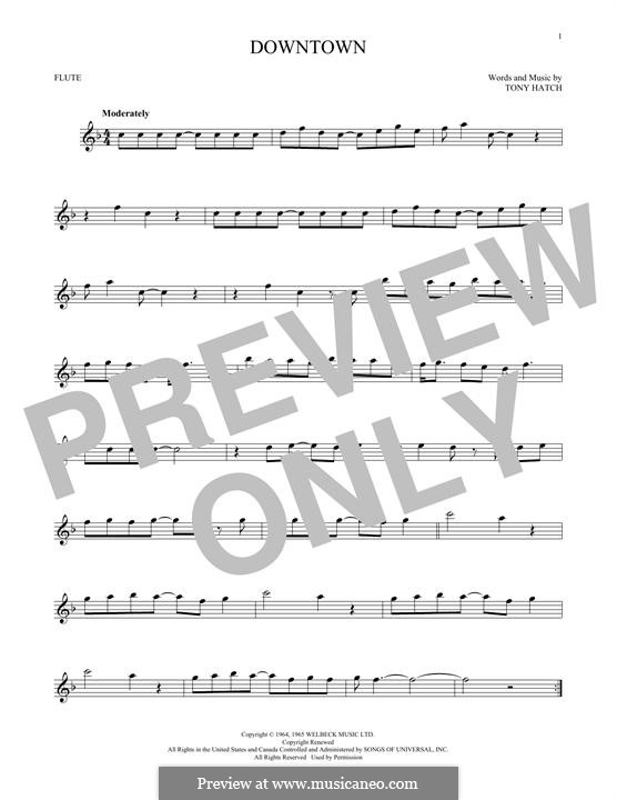 Downtown (Petula Clark): Для флейты by Tony Hatch