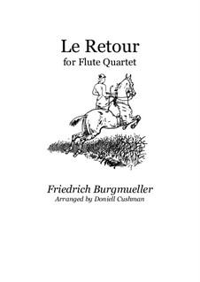 No.23 Le Retour: Для квартета флейт by Иоганн Фридрих Бургмюллер