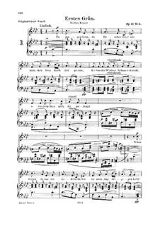 Двенадцать стихотворений для голоса и фортепиано, Op.35: No.4 Erstes Grün (First Green) by Роберт Шуман