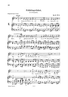 Романсы и баллады, Op.45: No.2 Frühlingsfahrt (Spring Journey) by Роберт Шуман