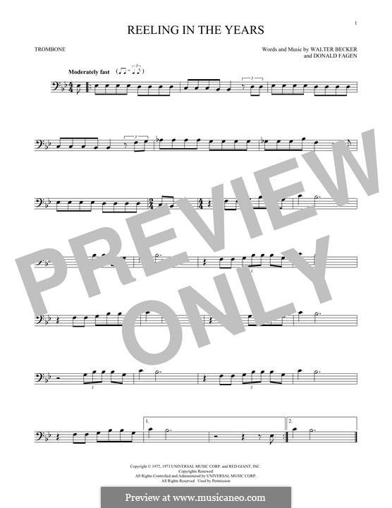 Reelin' in the Years (Steely Dan): For trombone by Donald Fagen, Walter Becker
