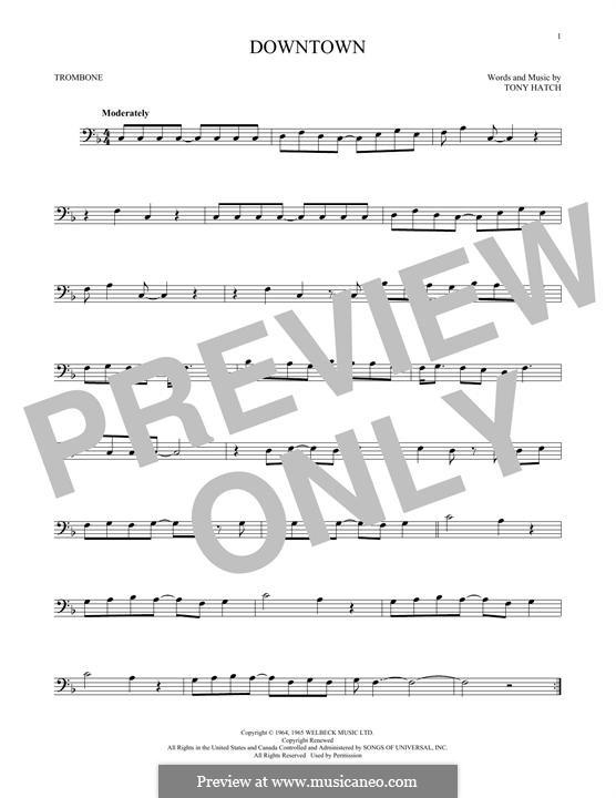 Downtown (Petula Clark): For trombone by Tony Hatch