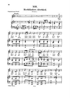No.13 Прощание горца: Для голоса и фортепиано by Роберт Шуман