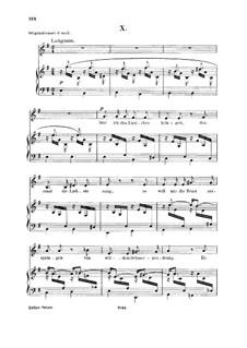 No.10 Слышу ли песни звуки: Для голоса и фортепиано by Роберт Шуман