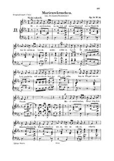 Альбом песен для юношества, Op.79: No.14 Marienwurmchen by Роберт Шуман