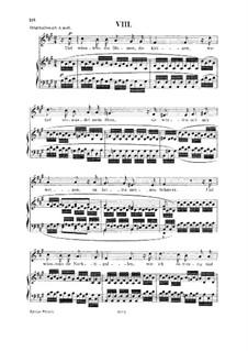 No.8 О, если б цветы угадали: Для голоса и фортепиано by Роберт Шуман
